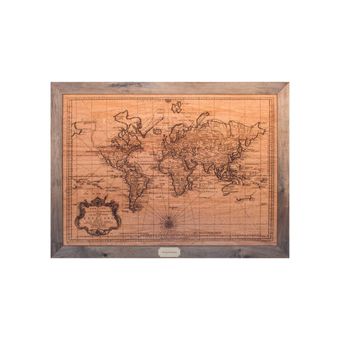 Wood maps antiquevintage world map lake maps wood map wall dcor small wood world map gumiabroncs Image collections