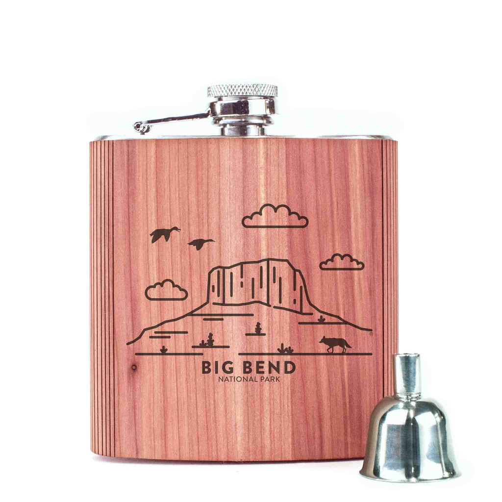 Big Bend National Park Wood 6 oz. Flask