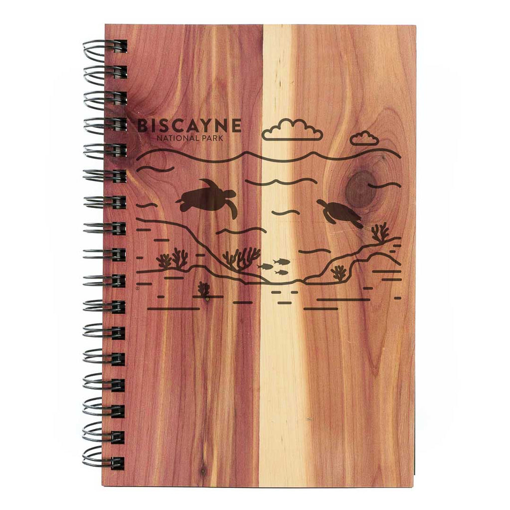 Biscayne National Park Wood Spiral Journal