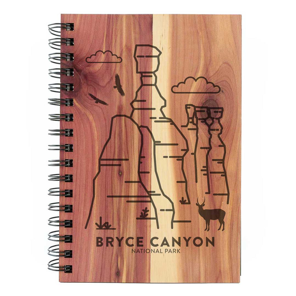 Bryce Canyon National Park Wood Spiral Journal