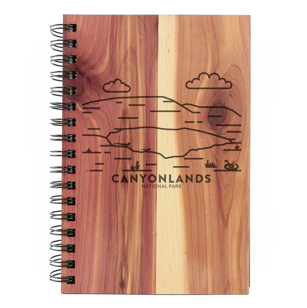 Canyonlands National Park Wood Spiral Journal