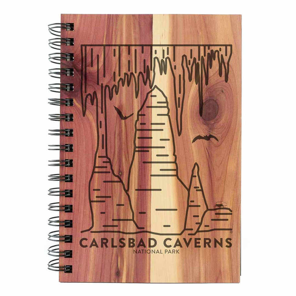 Carlsbad Caverns National Park Wood Spiral Journal