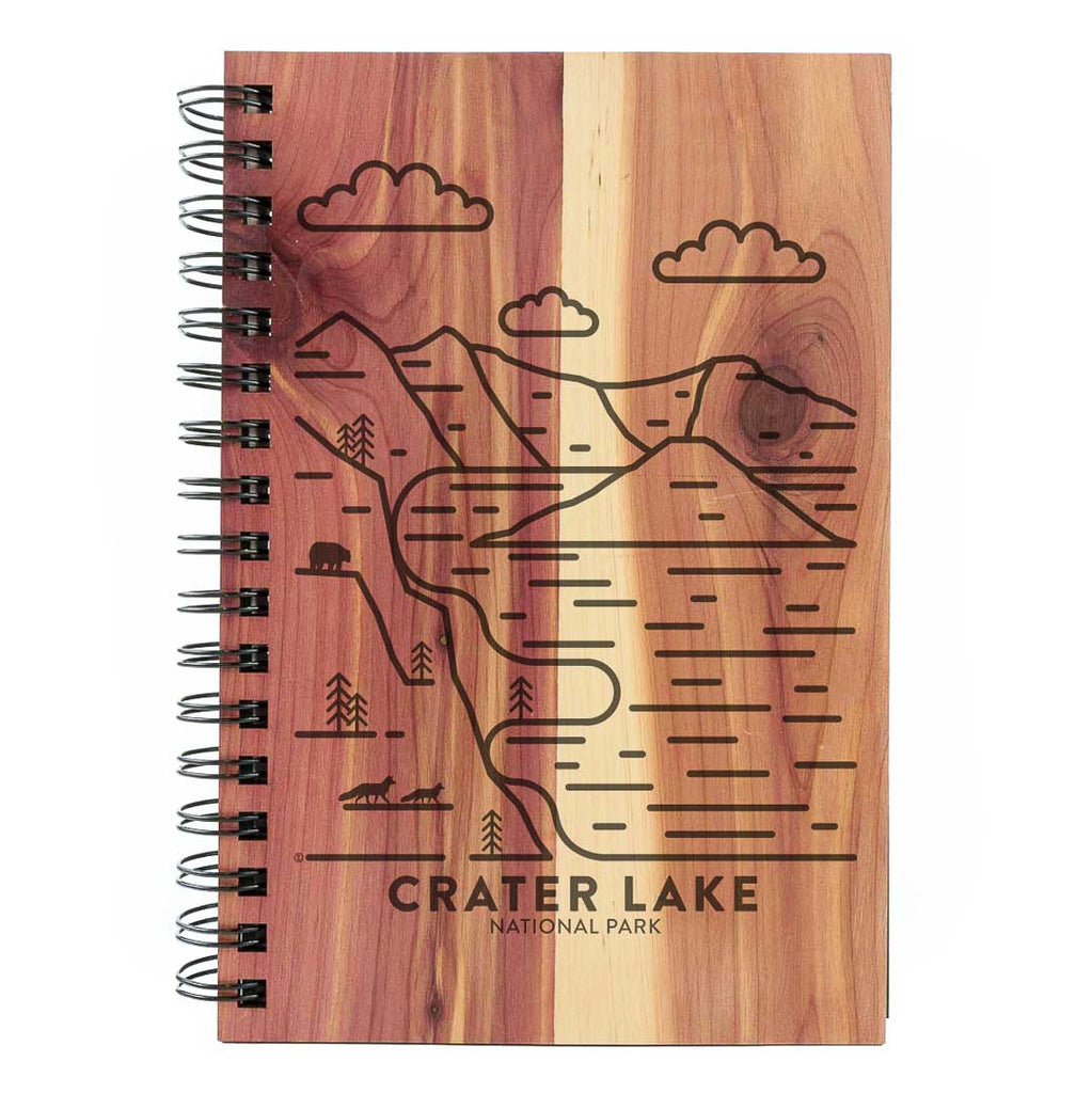 Crater Lake National Park Wood Spiral Journal