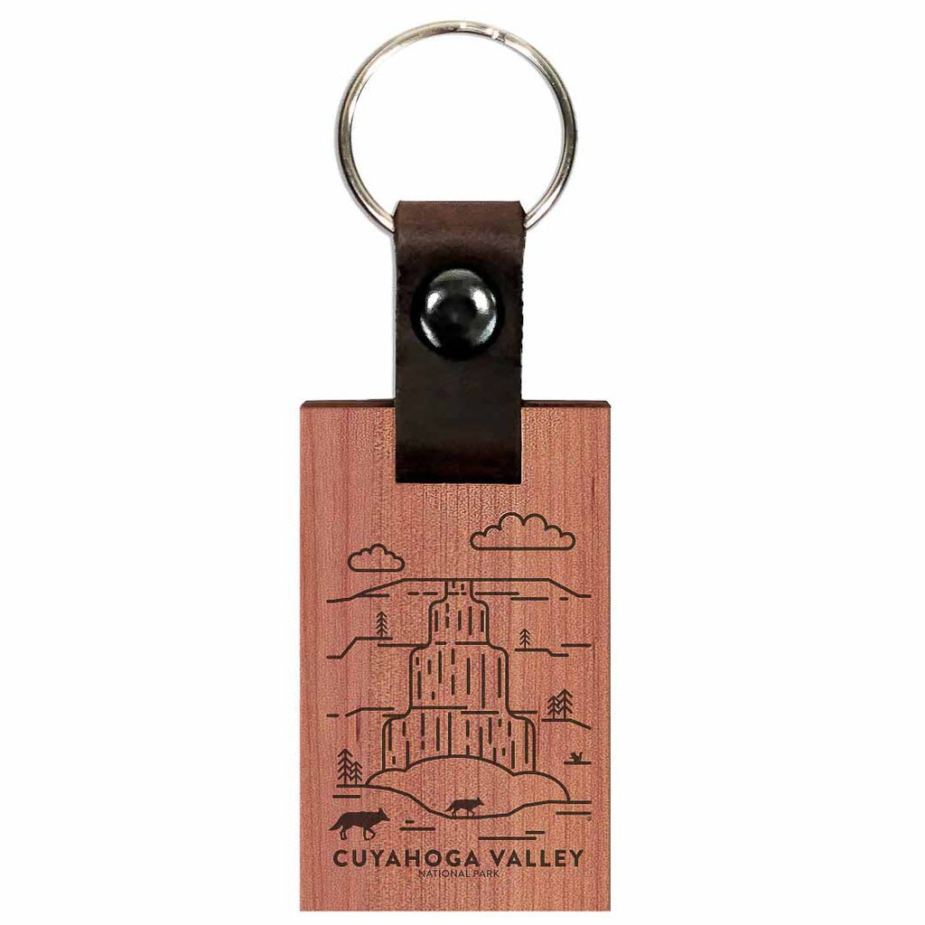 Cuyahoga Valley National Park Wood Premium Key Chain