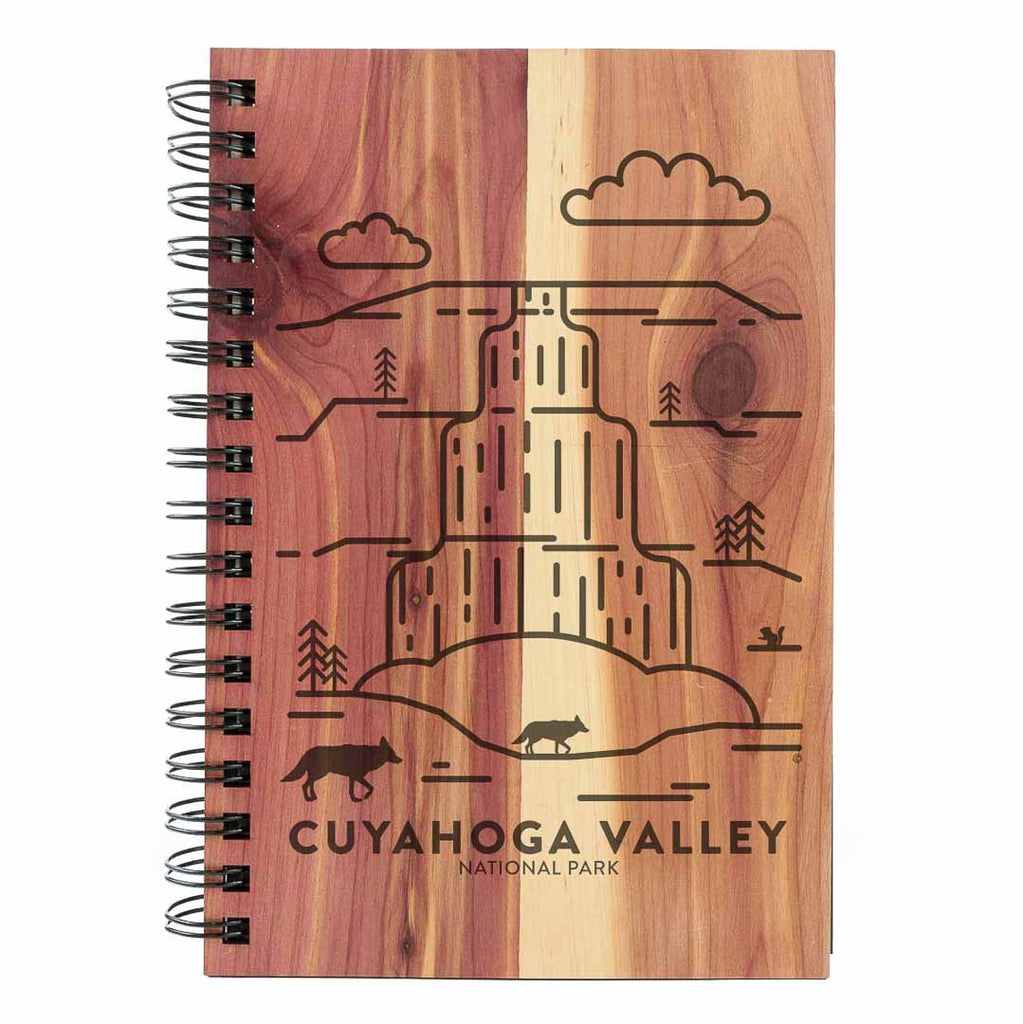Cuyahoga Valley National Park Wood Spiral Journal