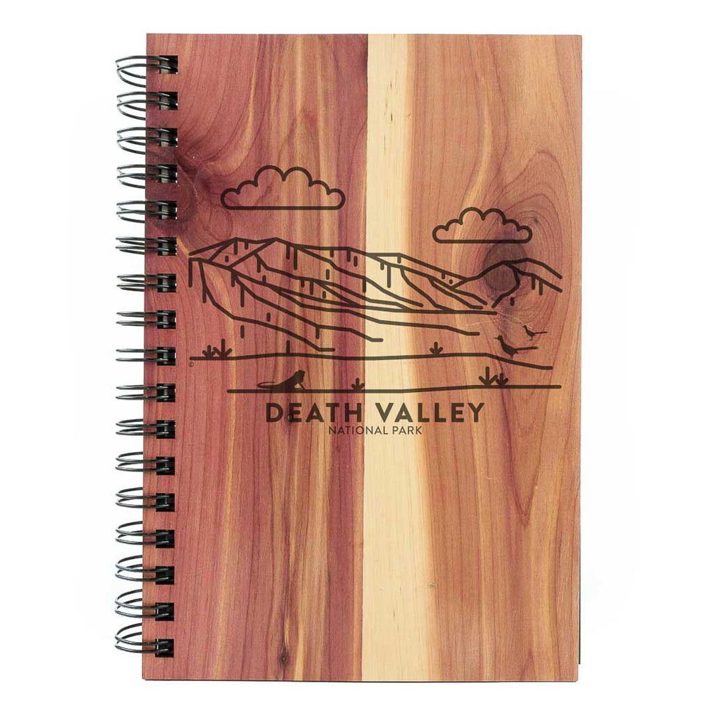 Death Valley National Park Wood Spiral Journal
