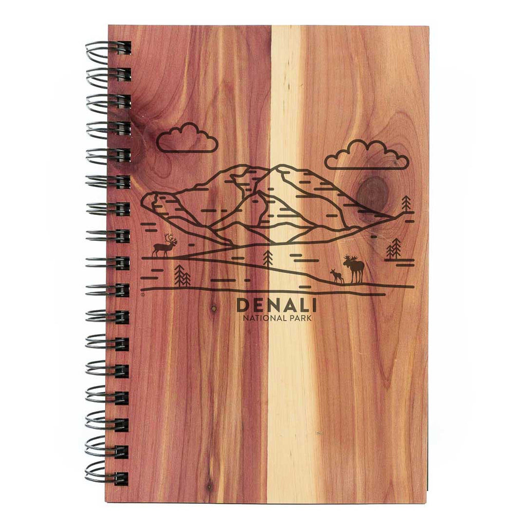 Denali National Park Wood Spiral Journal