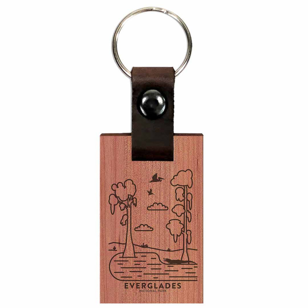 Everglades National Park Wood Premium Key Chain