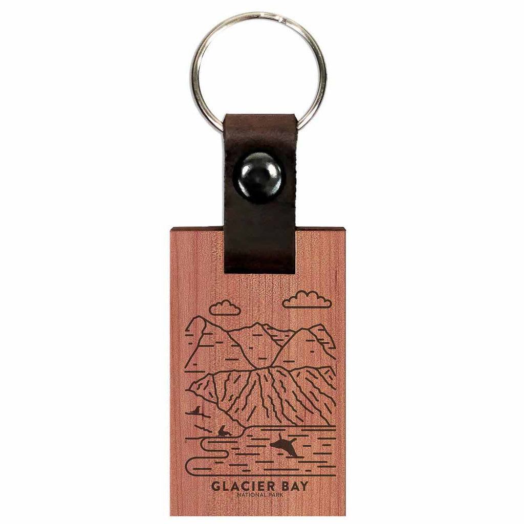 Glacier Bay National Park Wood Premium Key Chain