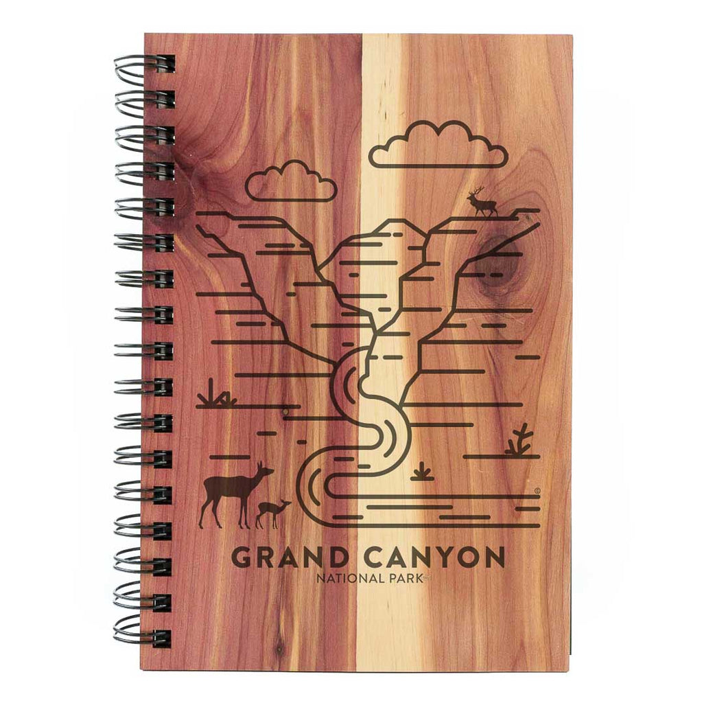 Grand Canyon National Park Wood Spiral Journal
