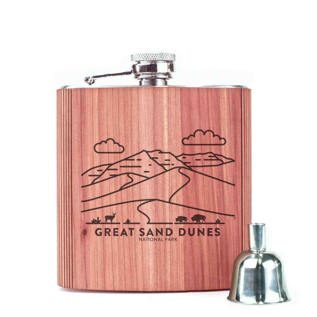 Great Sand Dunes National Park Wood 6 oz. Flask