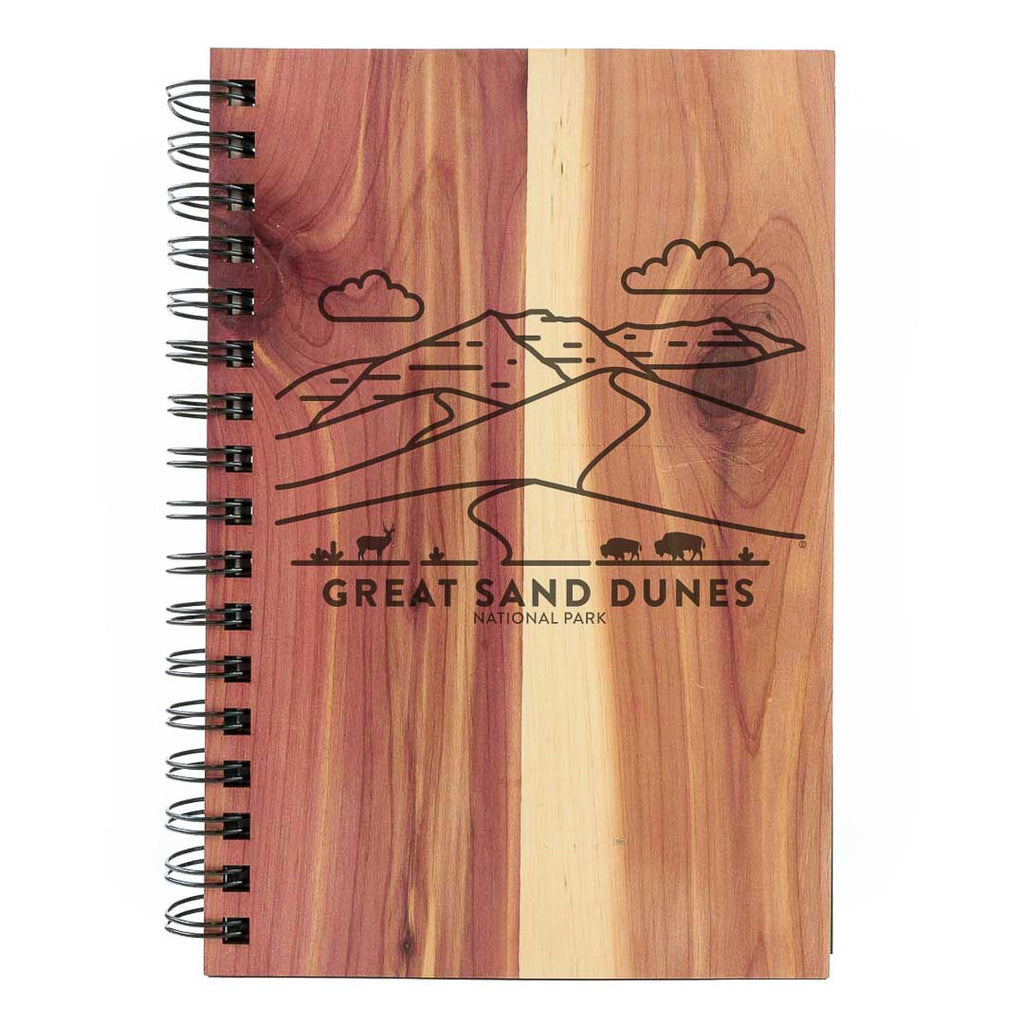 Great Sand Dunes National Park Wood Spiral Journal