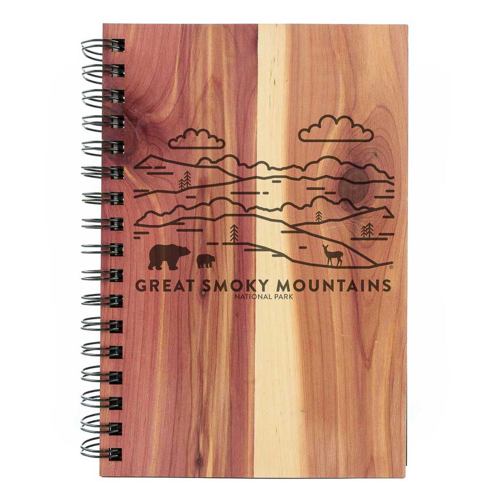 Great Smoky Mountains National Park Wood Spiral Journal