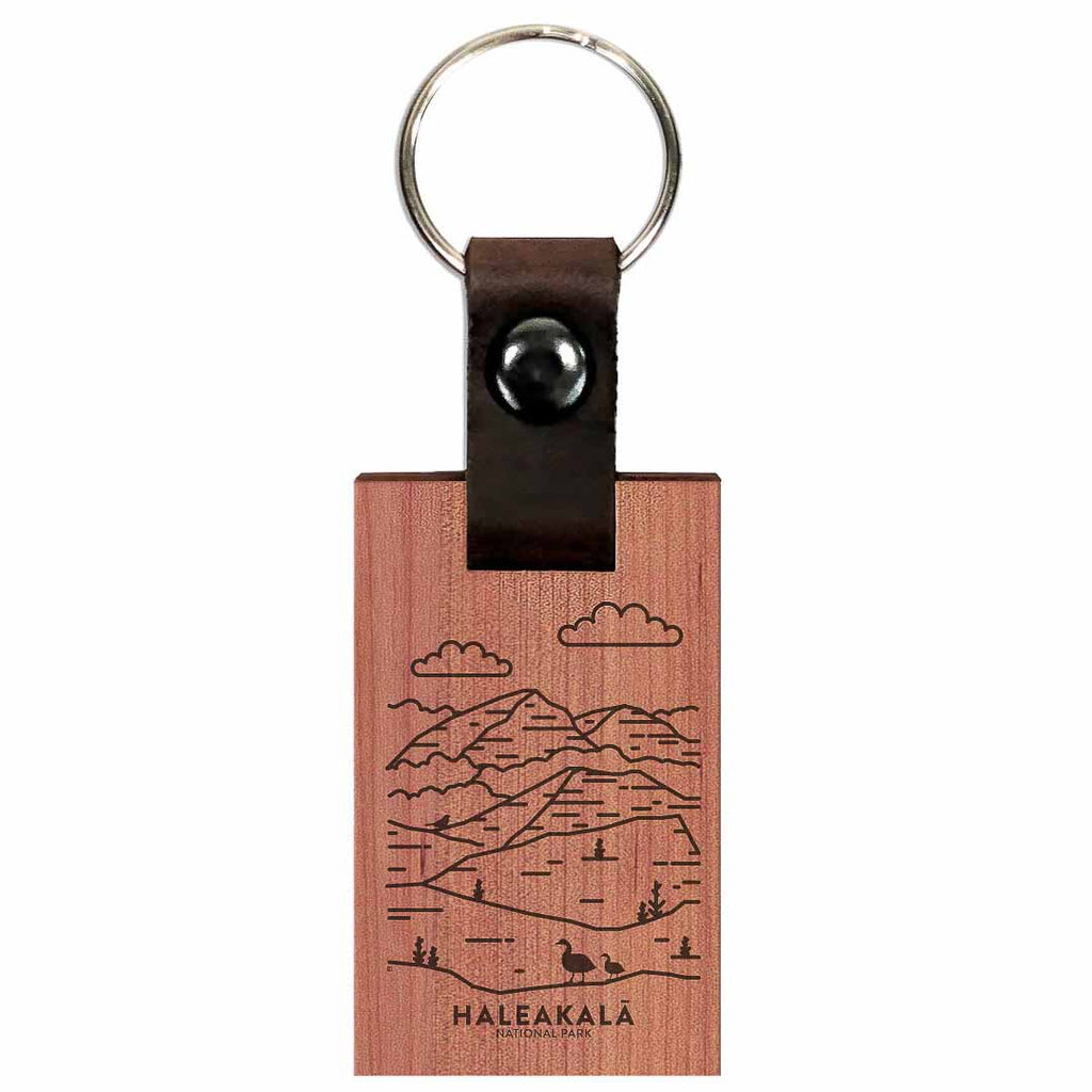 Haleakala National Park Wood Premium Key Chain