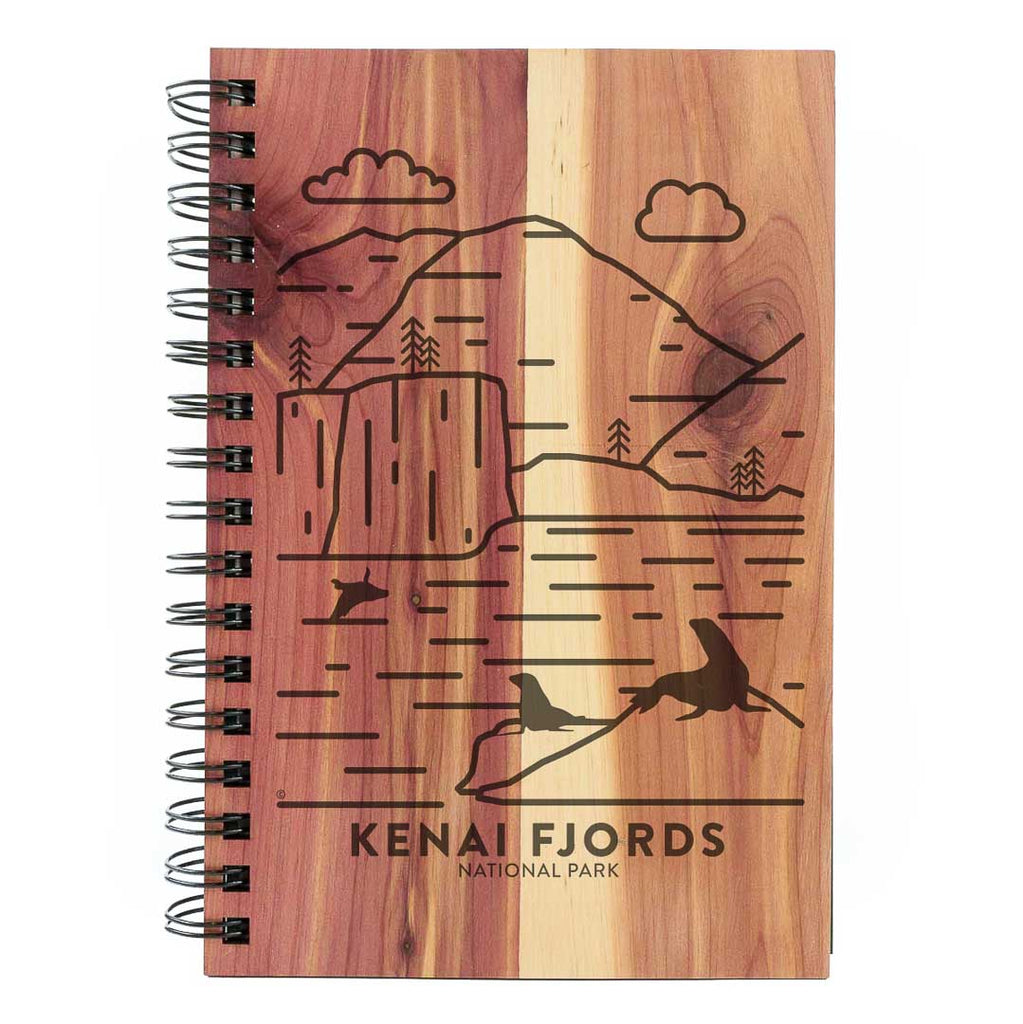 Kenai Fjords National Park Wood Spiral Journal