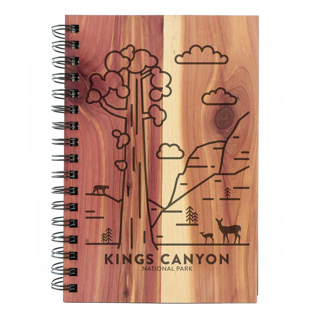Kings Canyon National Park Wood Spiral Journal