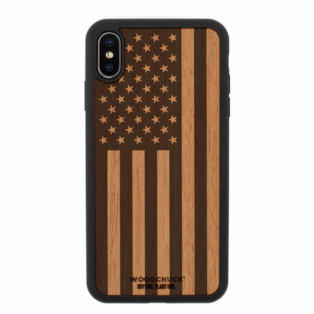 American Edition Real Wood iPhone Case