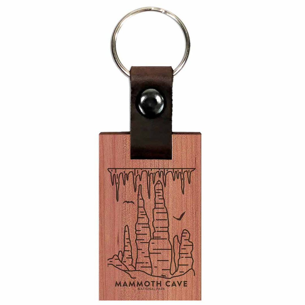 Mammoth Cave National Park Wood Premium Key Chain