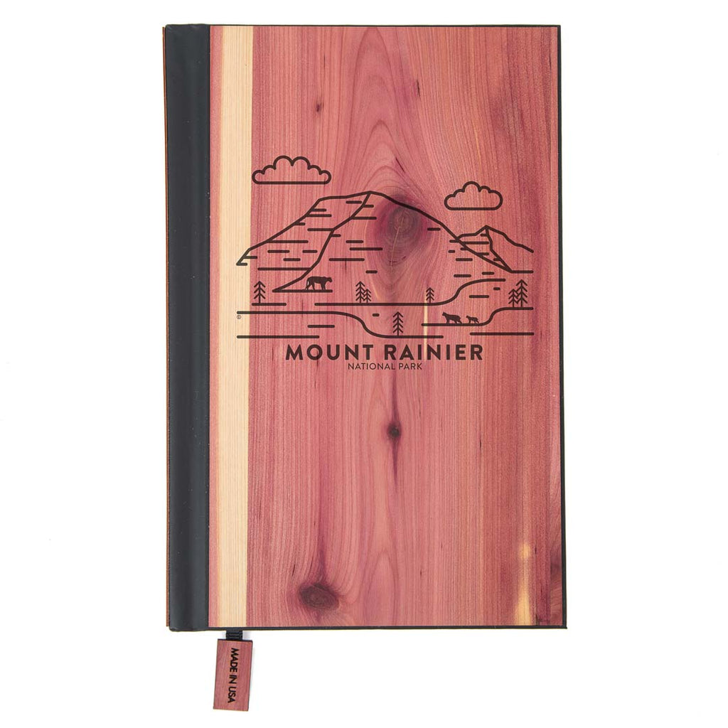 Mount Rainier National Park Wood Classic Journal