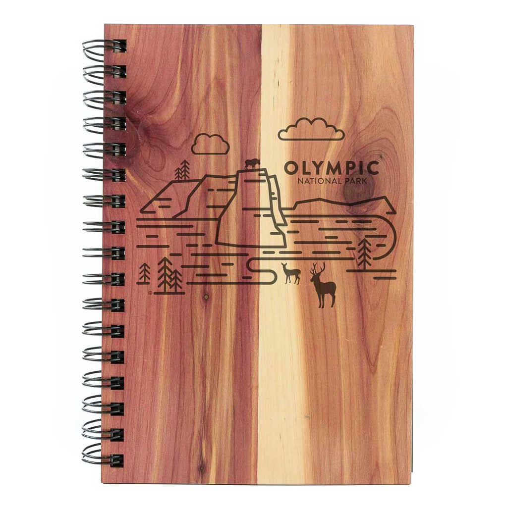 Olympic National Park Wood Spiral Journal