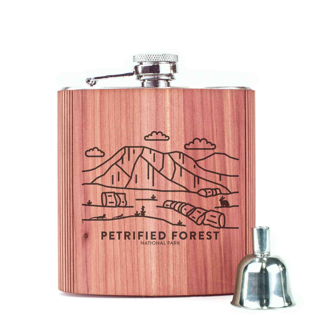 Petrified Forest National Park Wood 6 oz. Flask