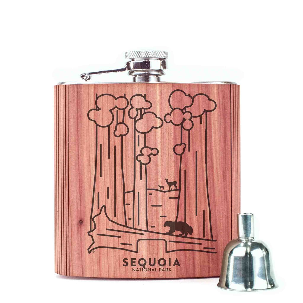Sequoia National Park Wood 6 oz. Flask