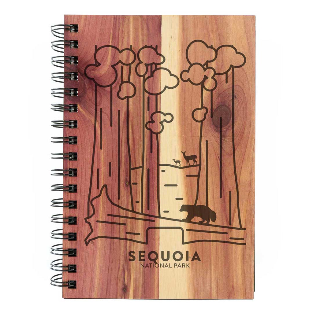 Sequoia National Park Wood Spiral Journal