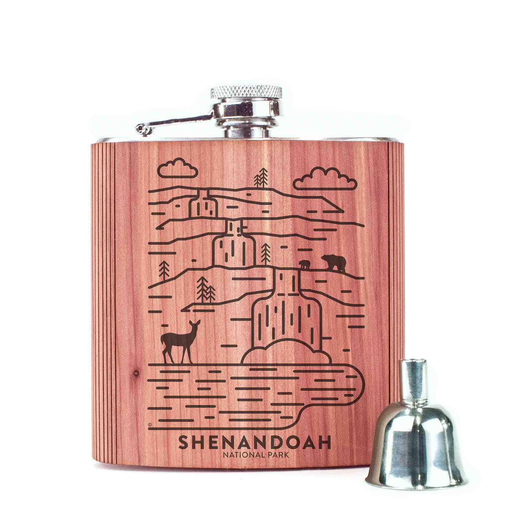 Shenandoah National Park Wood 6 oz. Flask