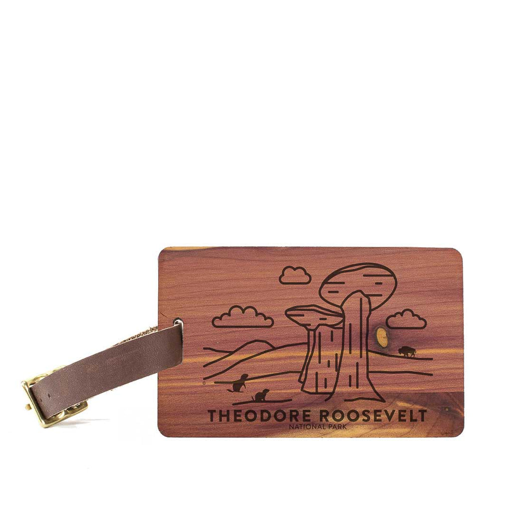 Theodore Roosevelt National Park Wood Luggage Tag
