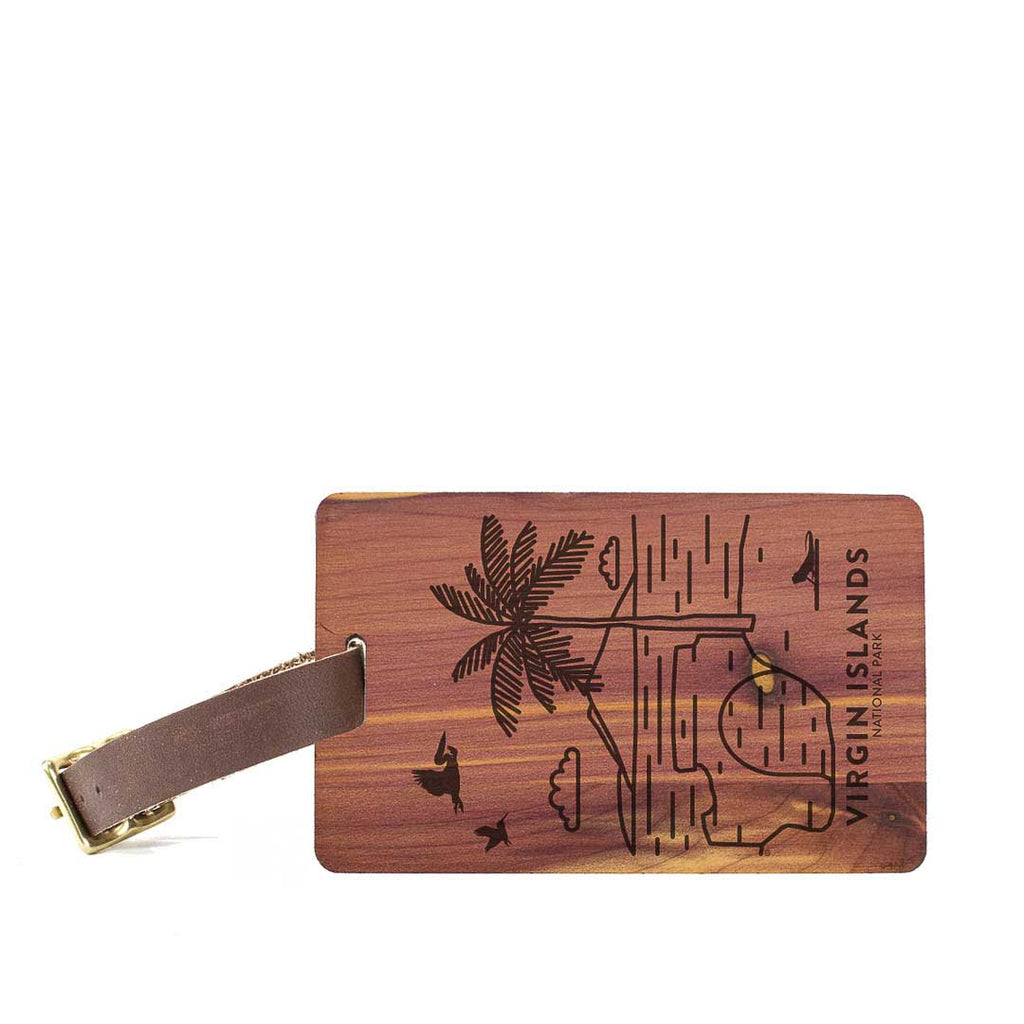 Virgin Islands National Park Wood Luggage Tag