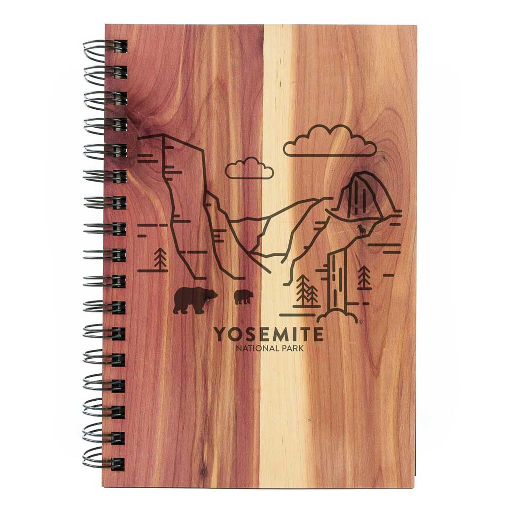 Yosemite National Park Wood Spiral Journal