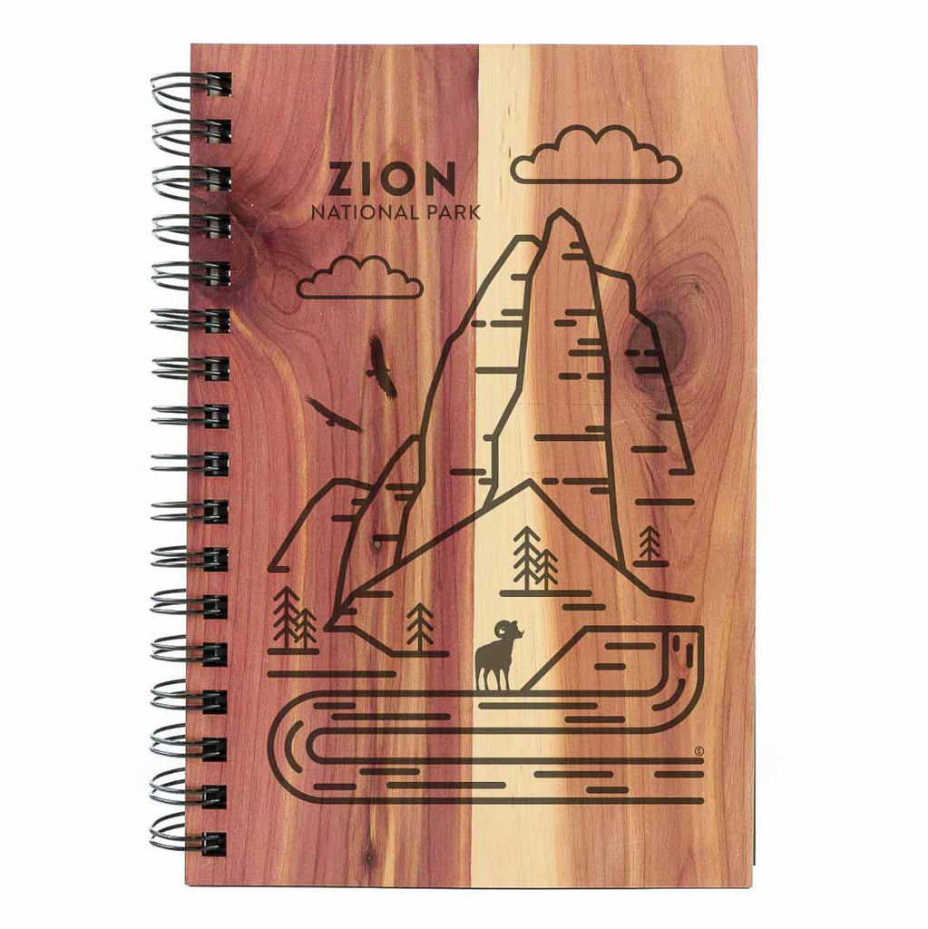 Zion National Park Wood Spiral Journal
