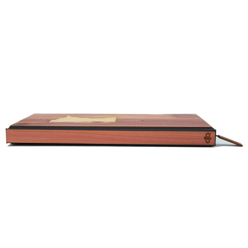 State Inlay Classic Wood Journal