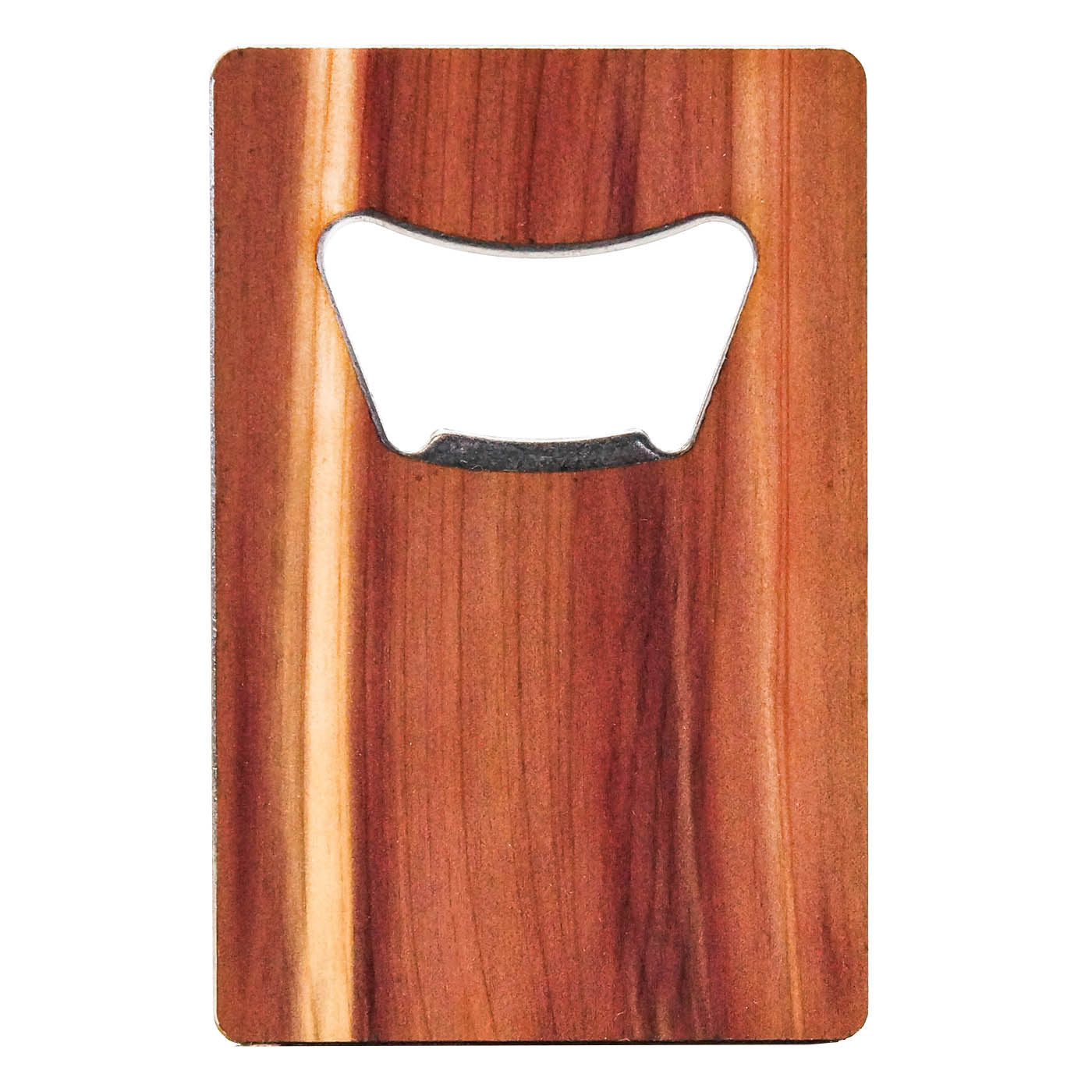 Customizable credit card bottle opener for Cedar credit