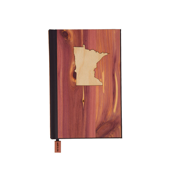 State Inlay Wood Pocket Journal