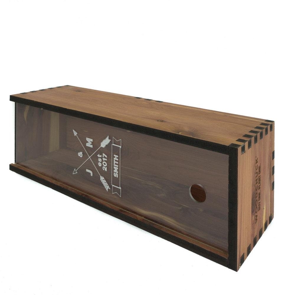 Wood Wine Box With Visible Front