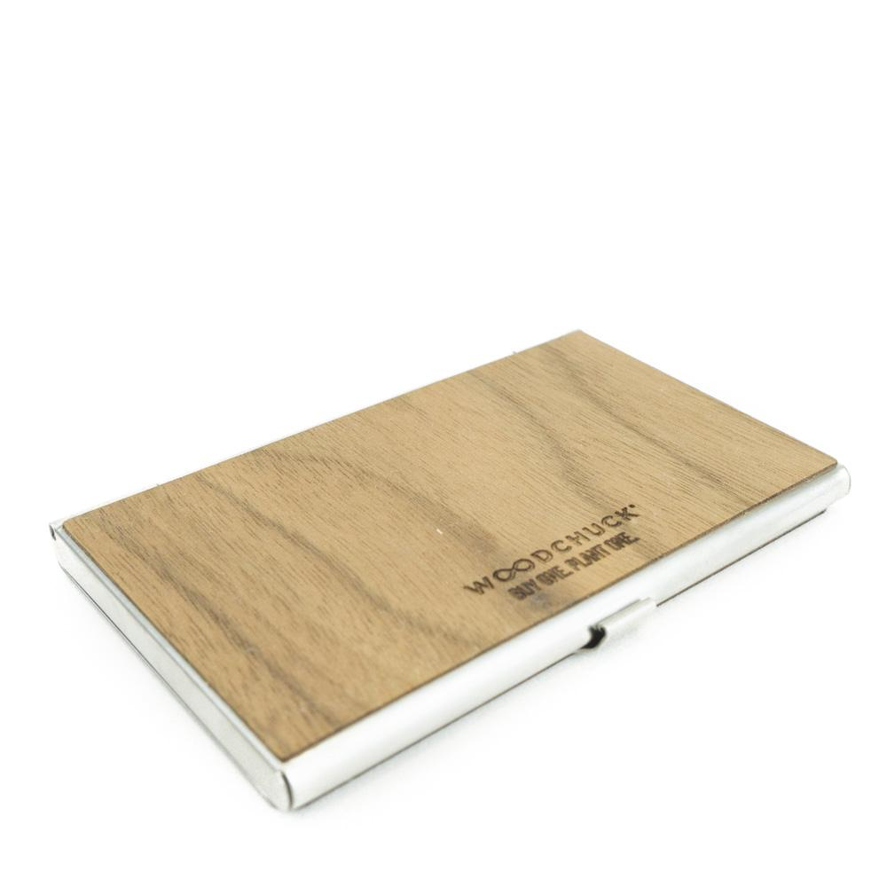 Customizable wood business card holdercase wood business card holder woodchuck usa colourmoves