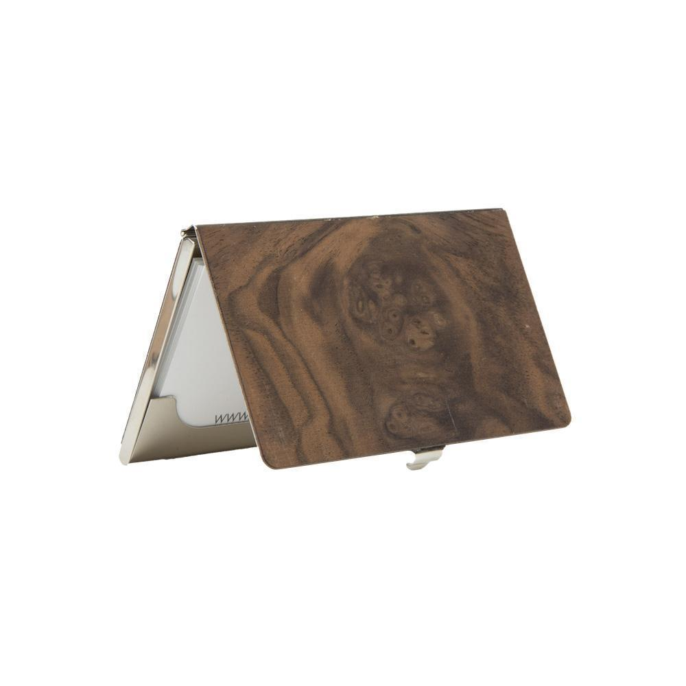 Customizable wood business card holdercase wood business card holder woodchuck usa reheart Images