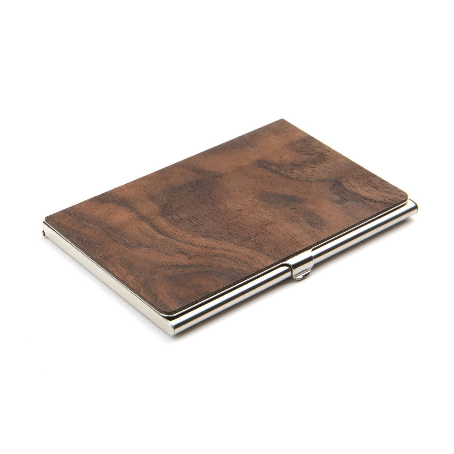 wood business card holder woodchuck usa - Metal Business Card Case