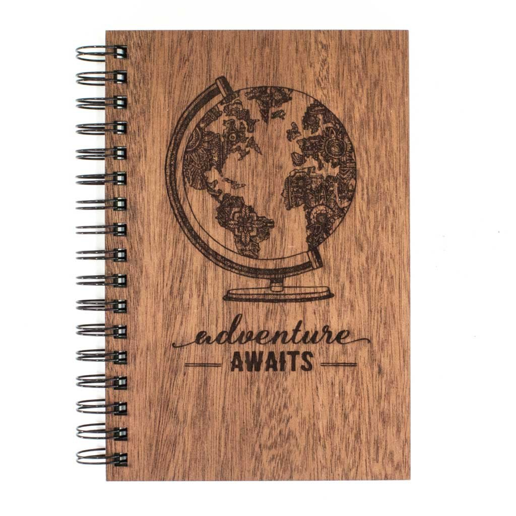 "Classic Spiral Journal - ""Adventure Awaits"""