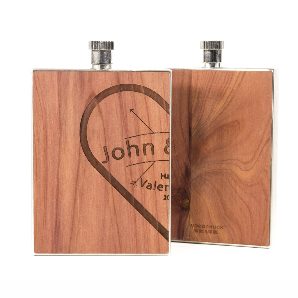 Couples Special Wood Flask 3 oz (set of 2 flasks) - woodchuckusa - 2