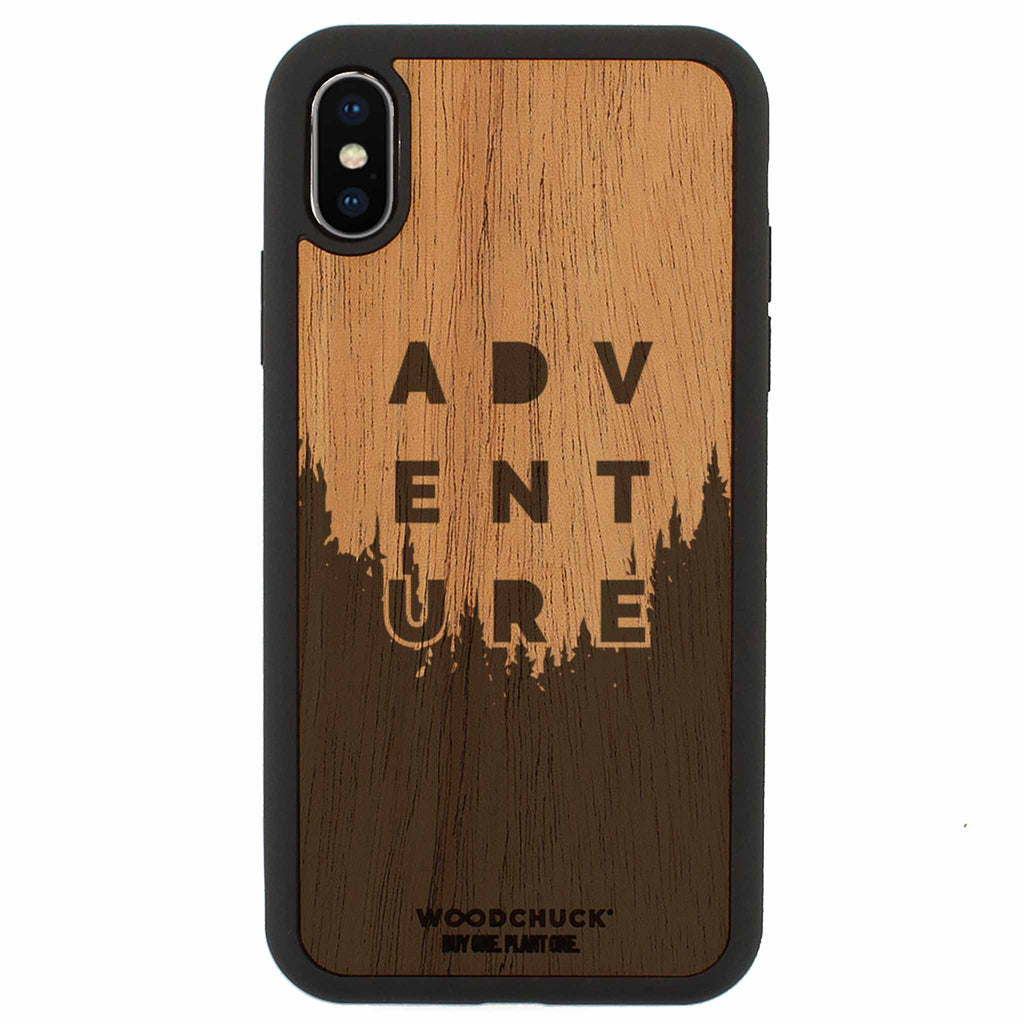Adventure Edition Real Wood iPhone Case