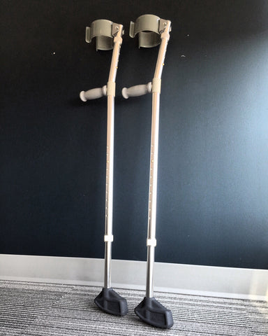 Forearm crutches with Mtip Crutch tips