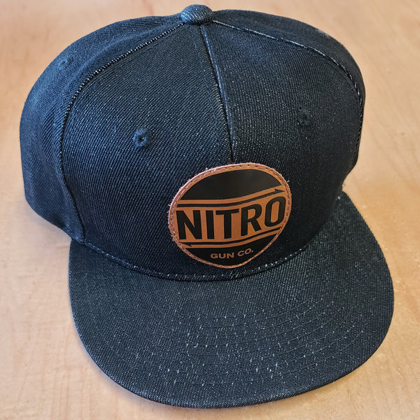 One-off Premium Snapback Black Denim
