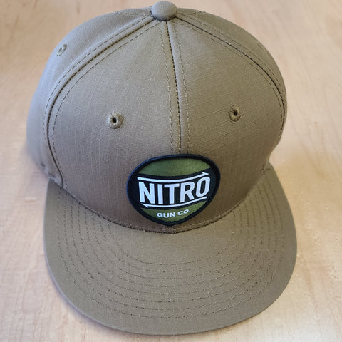 One-off Premium Snapback Tan Canvas Tan