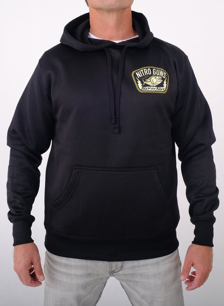 Feed 'em Steel Poly Tech Pullover (Hooded) Black