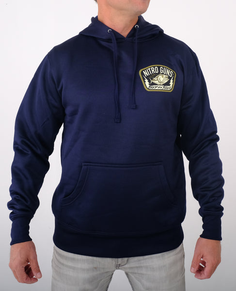 Feed 'em Steel Poly Tech Pullover (Hooded) Navy Blue