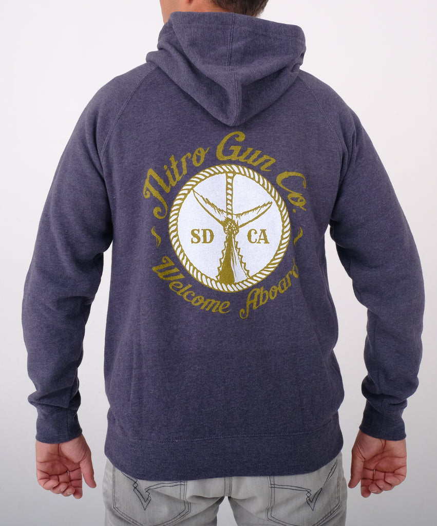 Welcome Aboard ! Unisex Special Blend Zip Sweatshirt (Hooded) - Midnight Heather