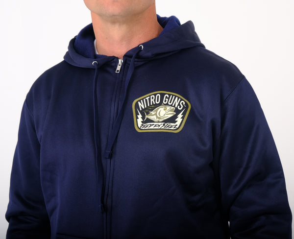 Feed 'em Steel Poly Tech Zipper Front (Hooded) Navy Blue