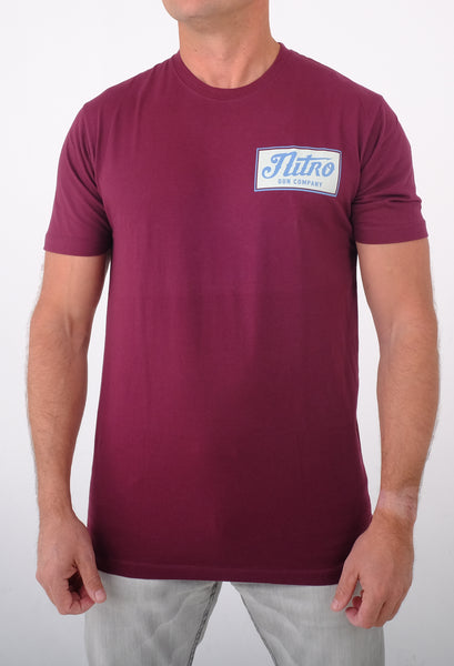 Cow Town Maroon T Shirt